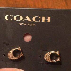 Coach earings still TAGS on